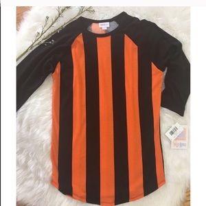 LuLaRoe Black and Orange Randy Shirt Size XS